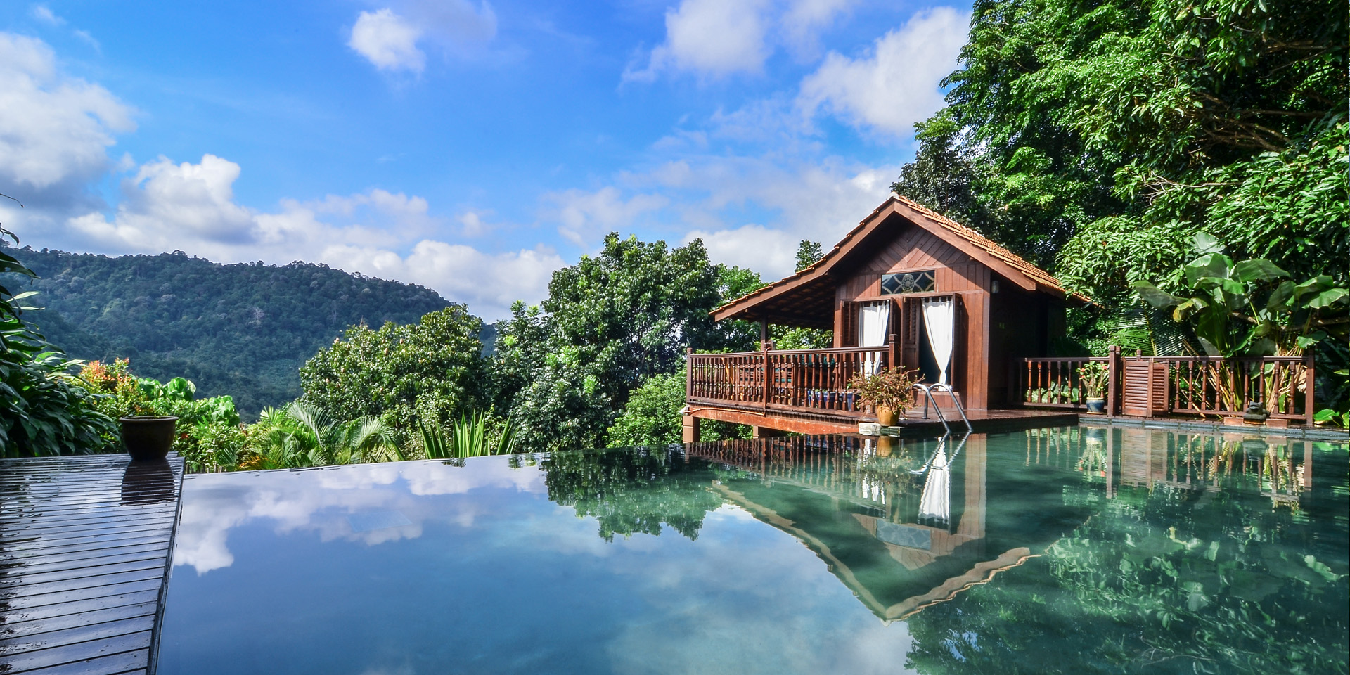 The Dusun Rainforest Resort.