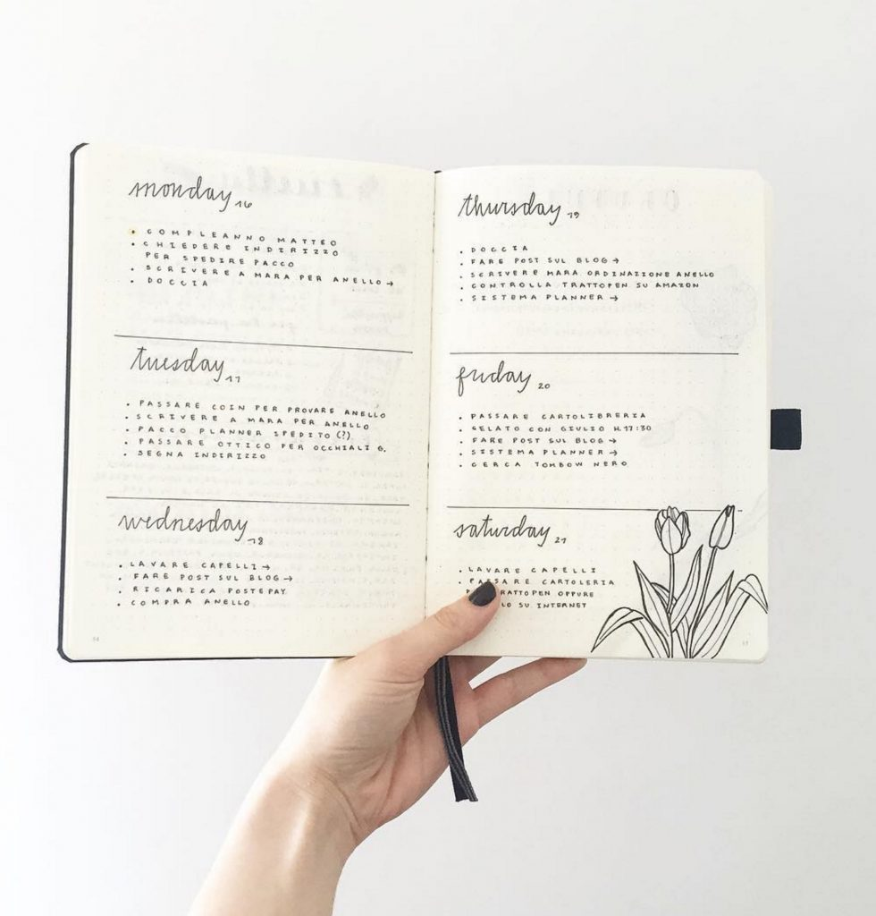 Image from Bullet Journal