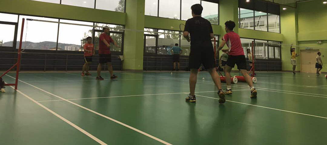 The indoor badminton court is a popular spot for FCUC students to spend their free time.