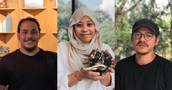 Directors Syed Madnuh (left), Nadiah Hamzah (middle), and Emir Ezwan (right).