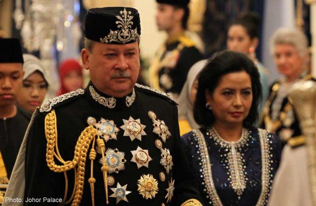 Sultan Ibrahim ibni Almarhum Sultan Iskandar Al-Haj and Raja Zarith Sofiah binti Almarhum Sultan Idris Iskandar Al-Mutawakkil Alallahi Shah Afifullah.