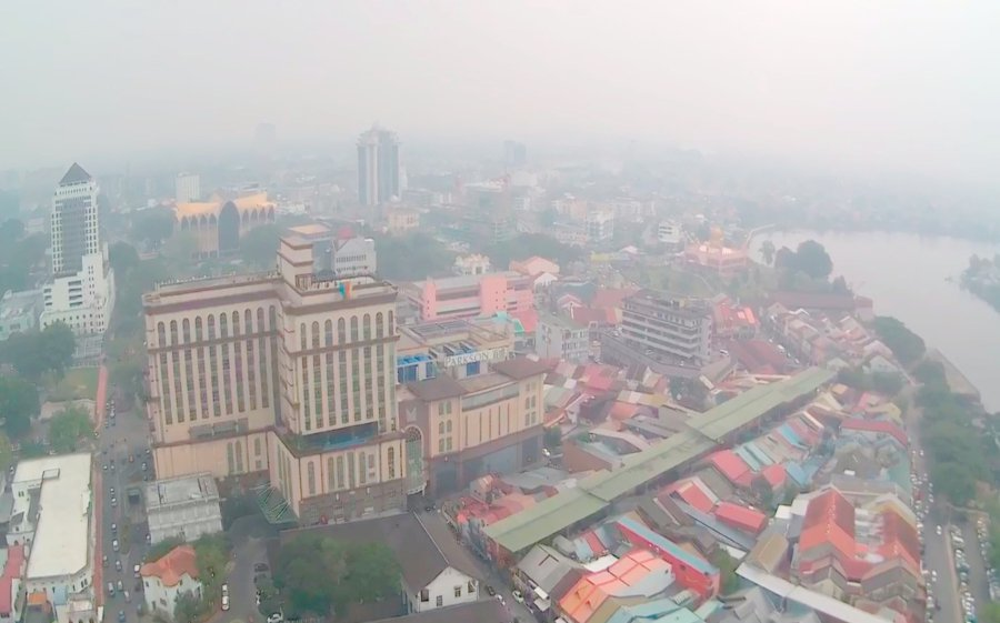 Sarawak is the worst-hit state with two areas recording 'Very Unhealthy' readings on Monday, 9 September.