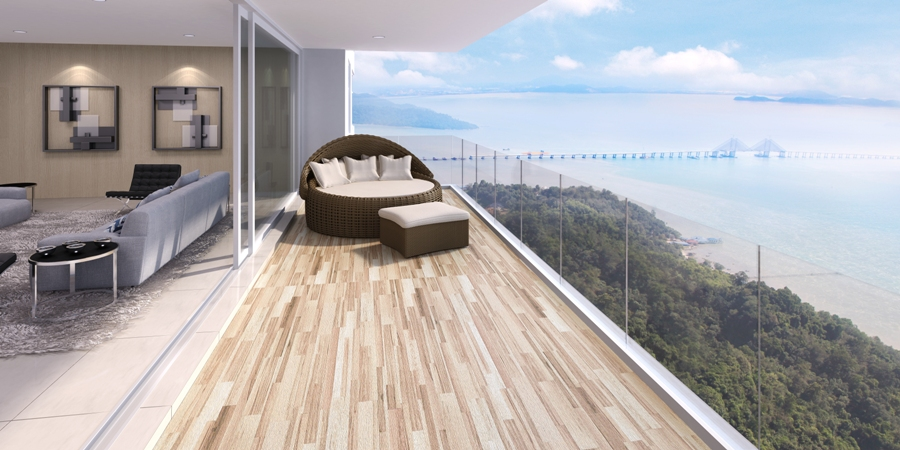 All the units at The Loft in Southbay City, Penang have a sea view and a sea-facing balcony.