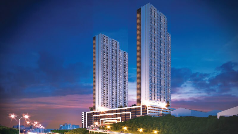 Enjoy starlit views at night from serviced residences in M Oscar.