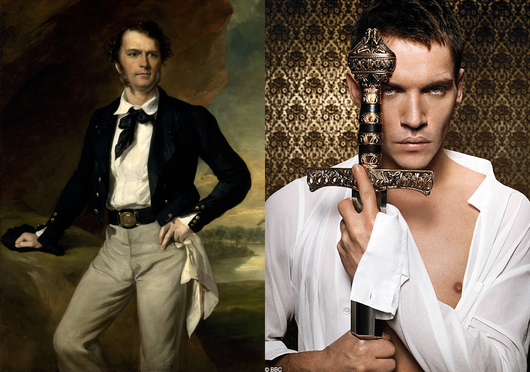 Sarawak's first Rajah Sir James Brooke (left) will be played by Jonathan Rhys Meyers (right).