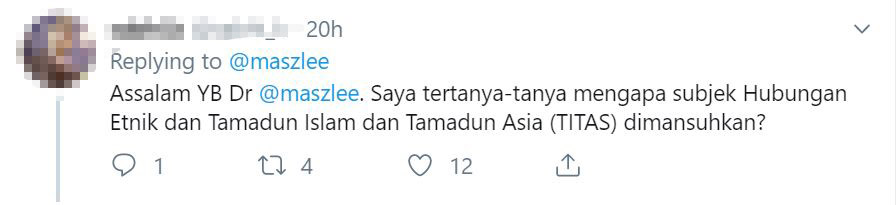 Image from Twitter @maszlee