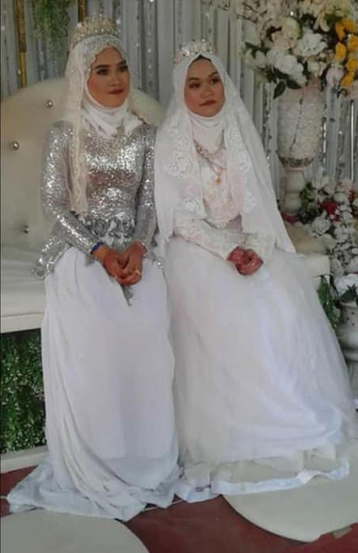 Aini Said (left); Lena Saleh (right).