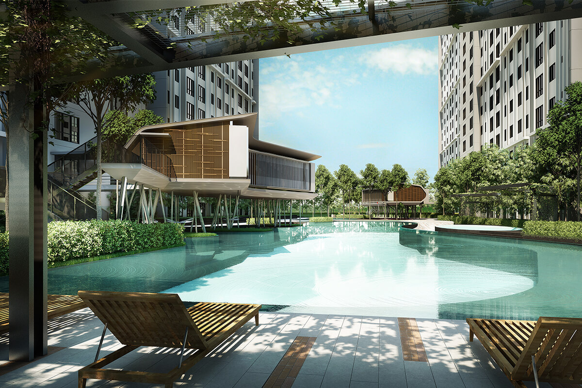M Centura in Sentul includes a 1-acre facilities deck, lap pool, jacuzzi, and 'floating' gym, among other green features.