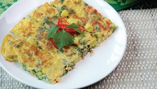Telur Dadar Kentang MyResipi Chef Hanieliza
