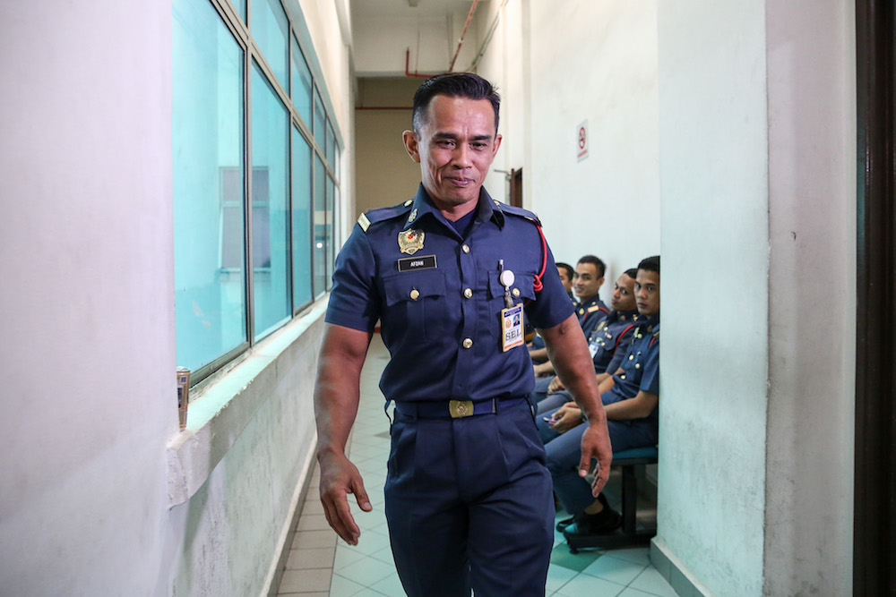 Fireman Mohamad Afzan Majid at the Shah Alam High Court on 2 October.