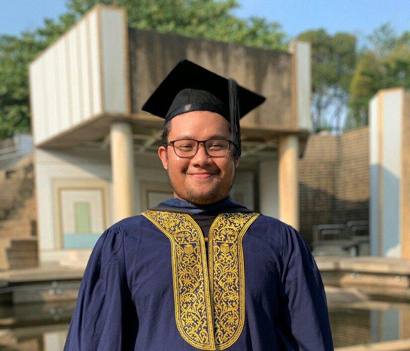 Rafiq Izzat, graduan Undang-Undang UiTM Shah Alam.