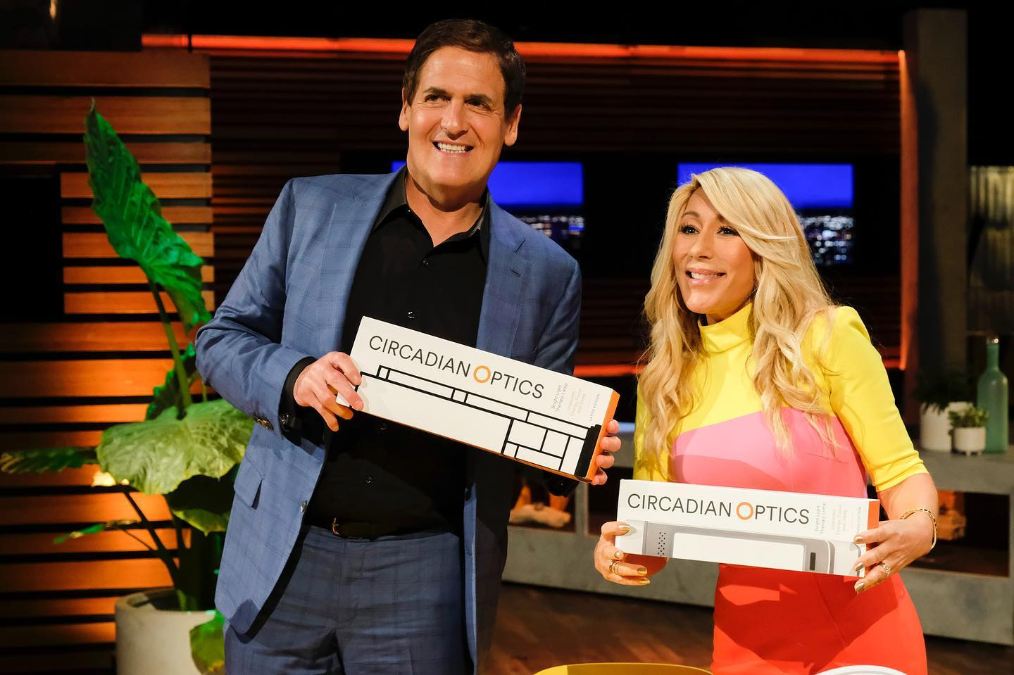 Shark Tank judges, Mark Cuban and Lori Greiner.