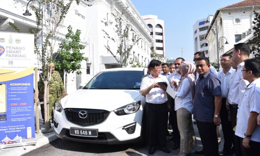 Penang Chief Minister Chow Kon Yeow at the launch of the PSP system at China Street Ghaut, George Town, in August.