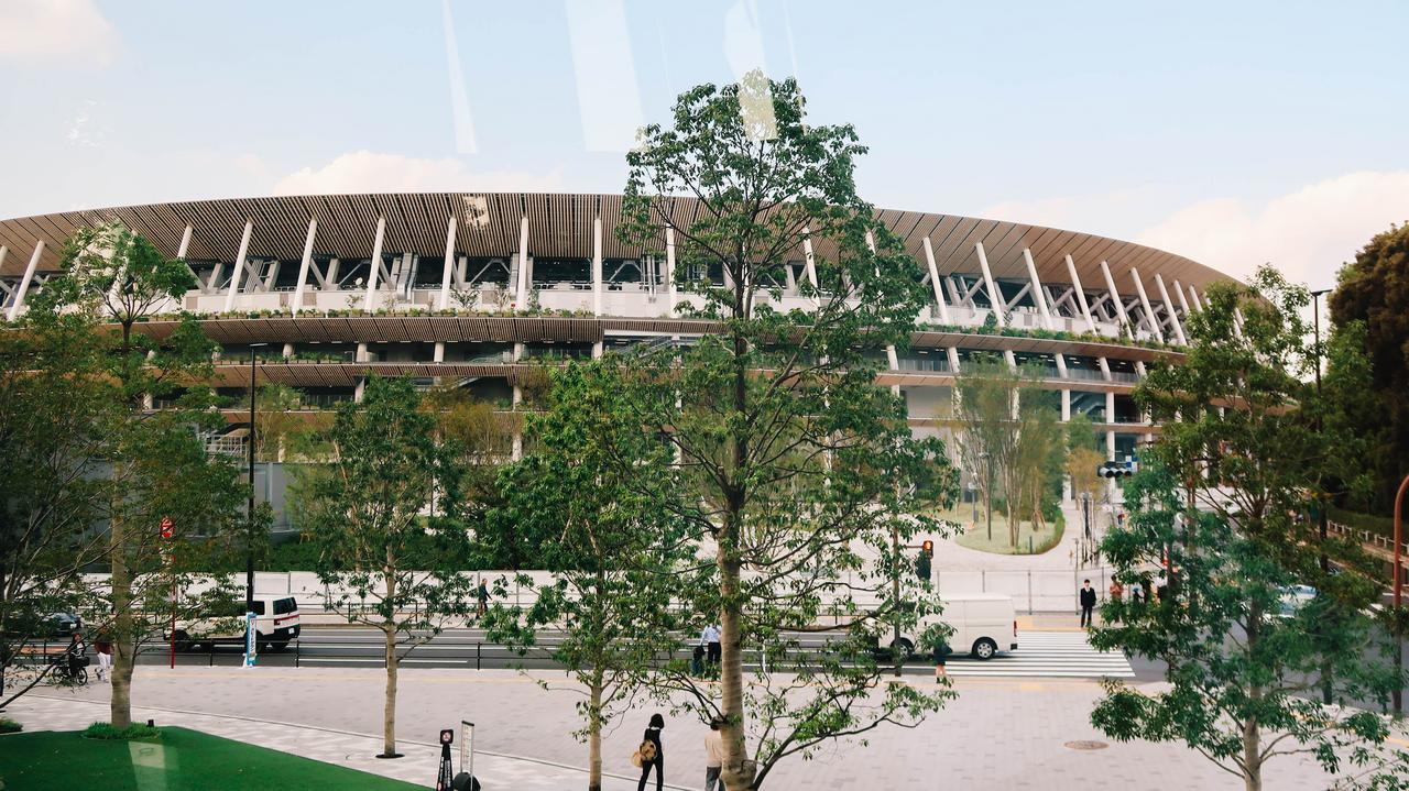 The newly reconstructed National Stadium, the main stadium for Tokyo 2020.