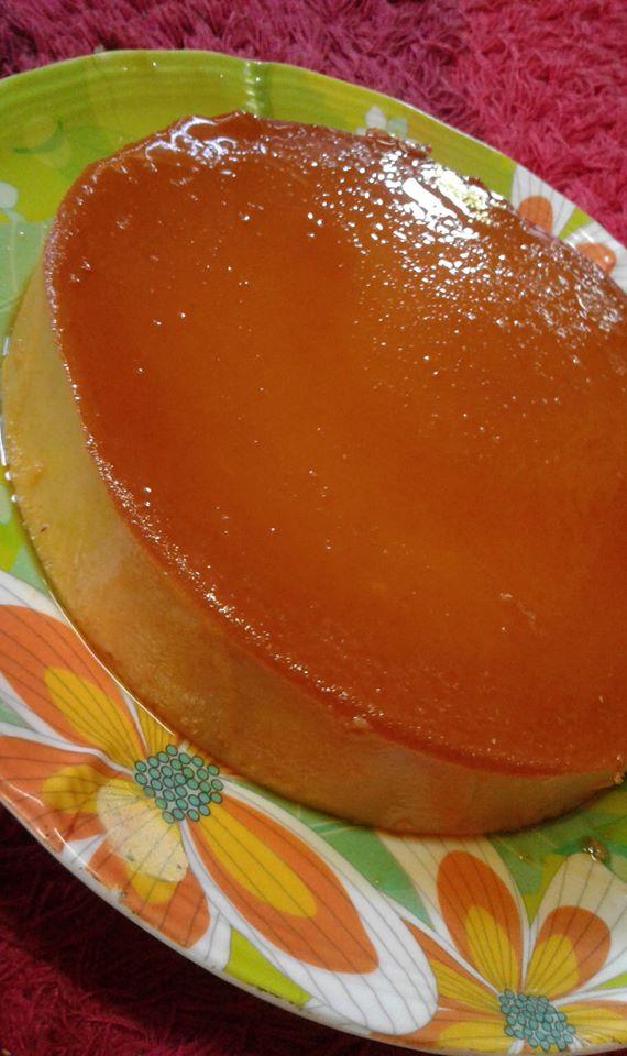 Image via Facebook Qaseh Dhia Resepi Puding Roti Karamel Senang