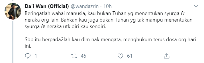 Image from Twitter @wandazrin