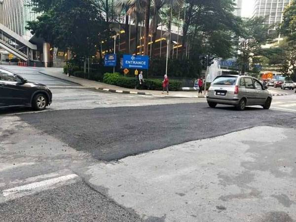 The repair work on Jalan Pinang has been completed.