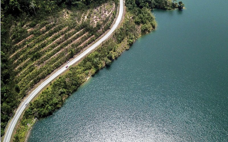 Semenyih Dam, one of the major dams supplying water to Klang Valley.