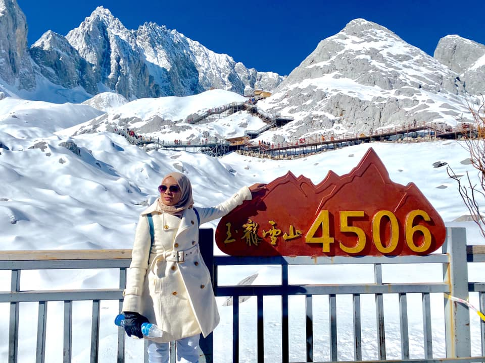 JDSM lower point 4506m — at Old Town of Lijiang.