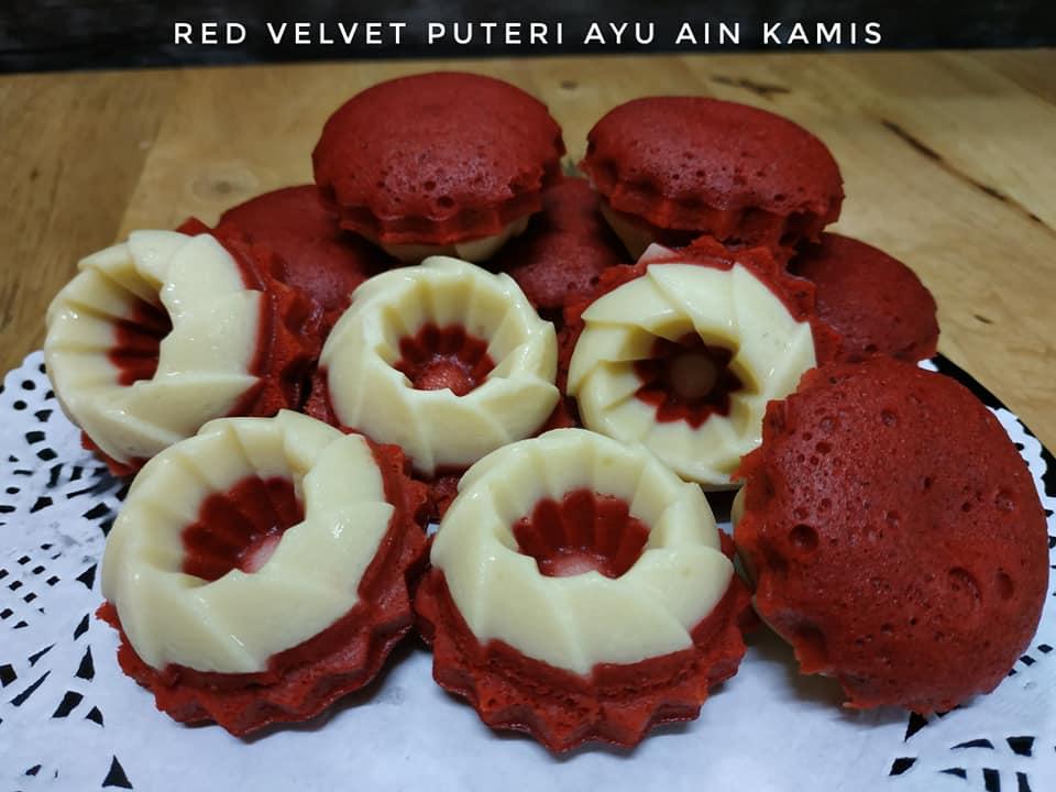 Image via Facebook Ain Kamis Resepi Puteri Ayu Red Velvet