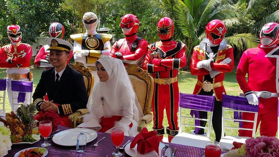 Tema Superhero Power Rangers.