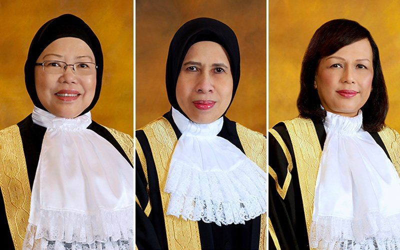 (From left to right) Datuk Zaleha Yusof, Datuk Zabariah Mohd Yusof, and Datuk Hasnah Mohammed Hashim to be promoted to Federal Court judges.