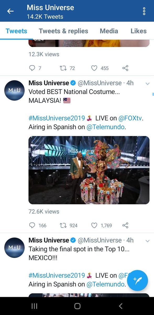 Screenshot by Miss Universe that has since been deleted.