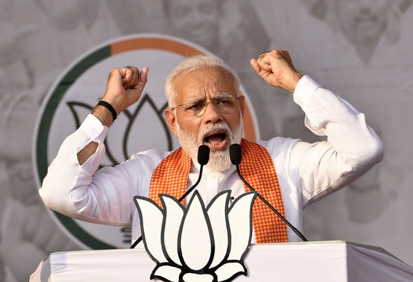 Indian Prime Minister Narendra Modi was re-elected in a landslide victory in May 2019.