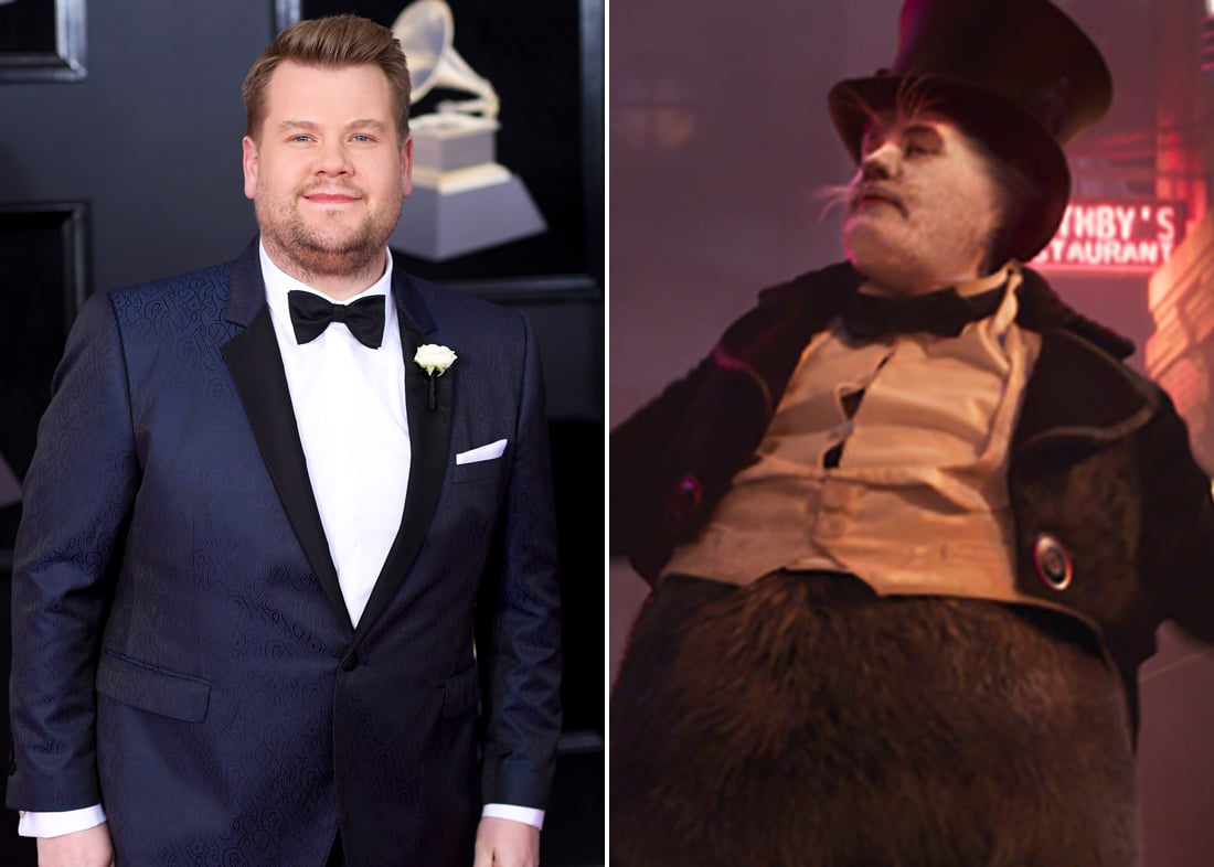 James Corden is Bustopher Jones, a cheerful cat who enjoys visiting gentlemen's clubs and fine dining.