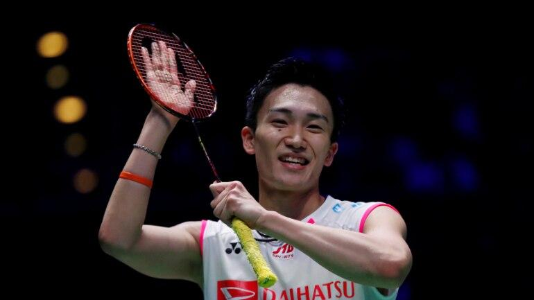 Current world champion Japanese badminton player Kento Momota.