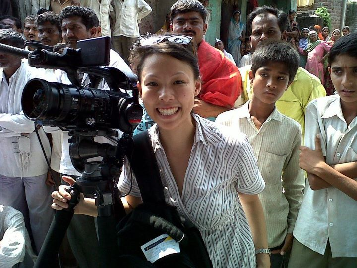 Producer Poh Si Teng in India as a freelance multimedia journalist covering the world's biggest democracy.