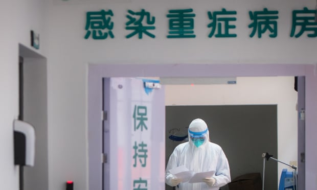 A medic at a hospital in Wuhan.