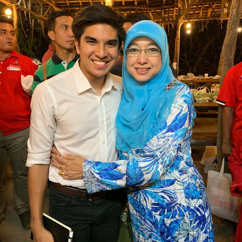 Syed Saddiq and his mum at the closed-door event on Friday night.