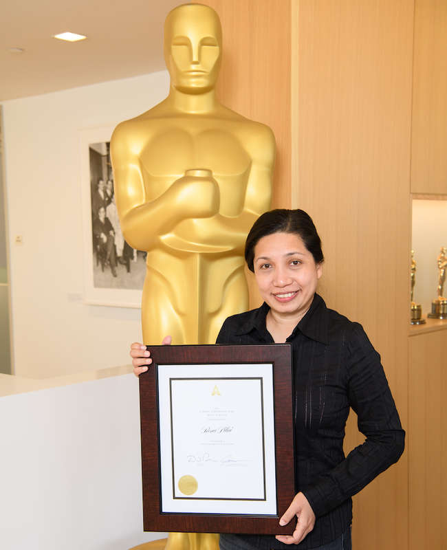 Renee Pillai with her Oscar-Governed Grant.
