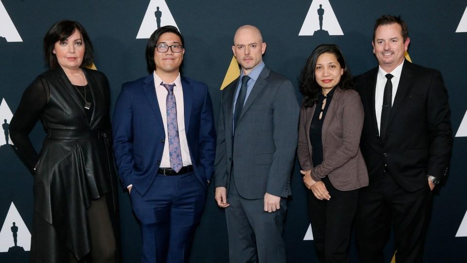 Left to right: Karen McDermott, Aaron Chung, Walker McKnight, Renee Pillai, and Sean Malcolm.