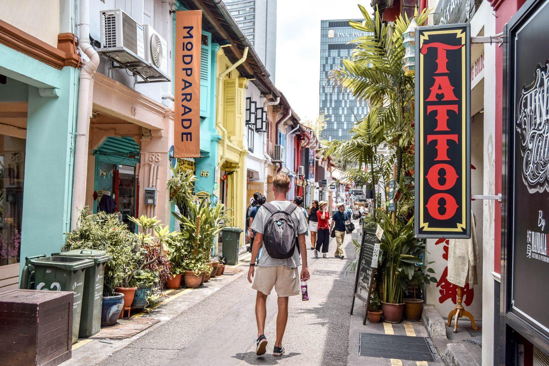 Haji Lane in Singapore.