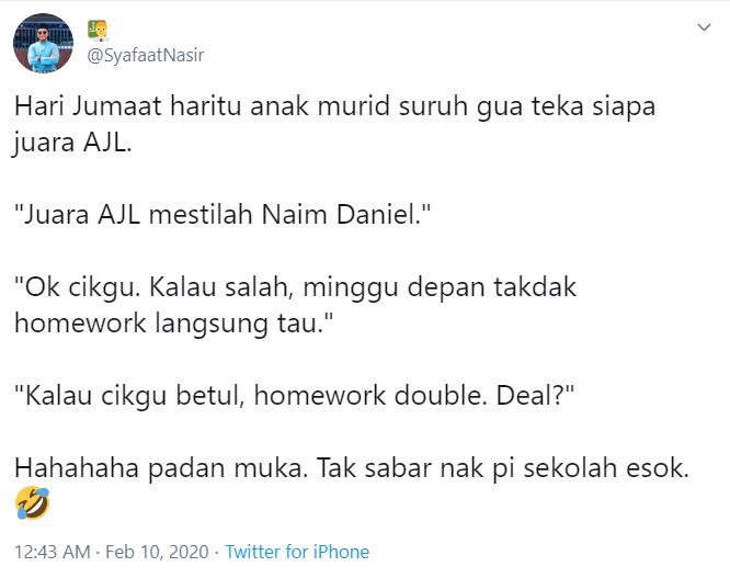 Image from Twitter @SyafaatNasir