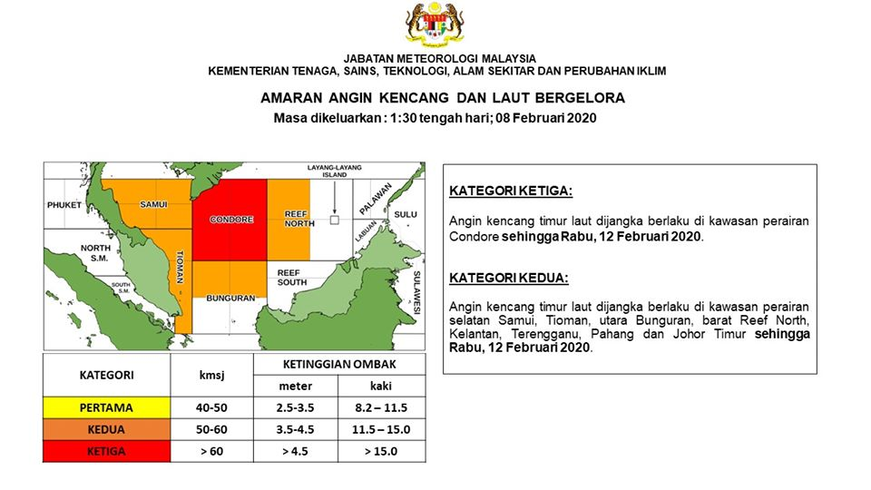 Image from Malaysian Meteorological Department/Facebook