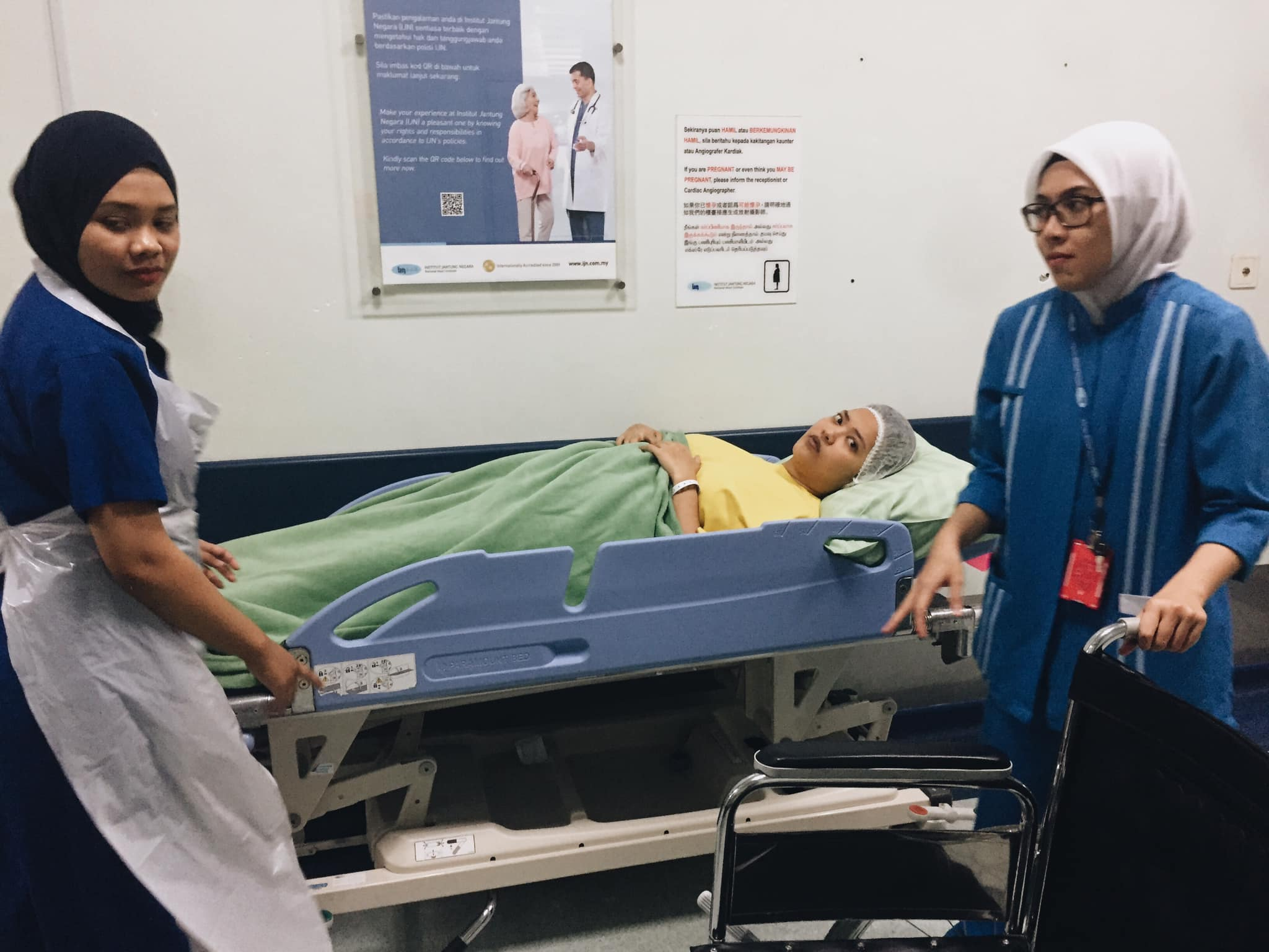 Ayul's wife, Quya, was admitted to IJN to undergo various medical examinations last year.
