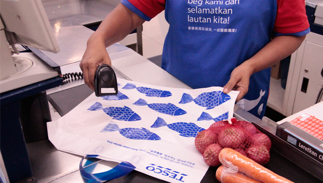 Tesco launched the 'Unforgettable Bag' campaign to encourage customers to reduce single-use plastic bags.