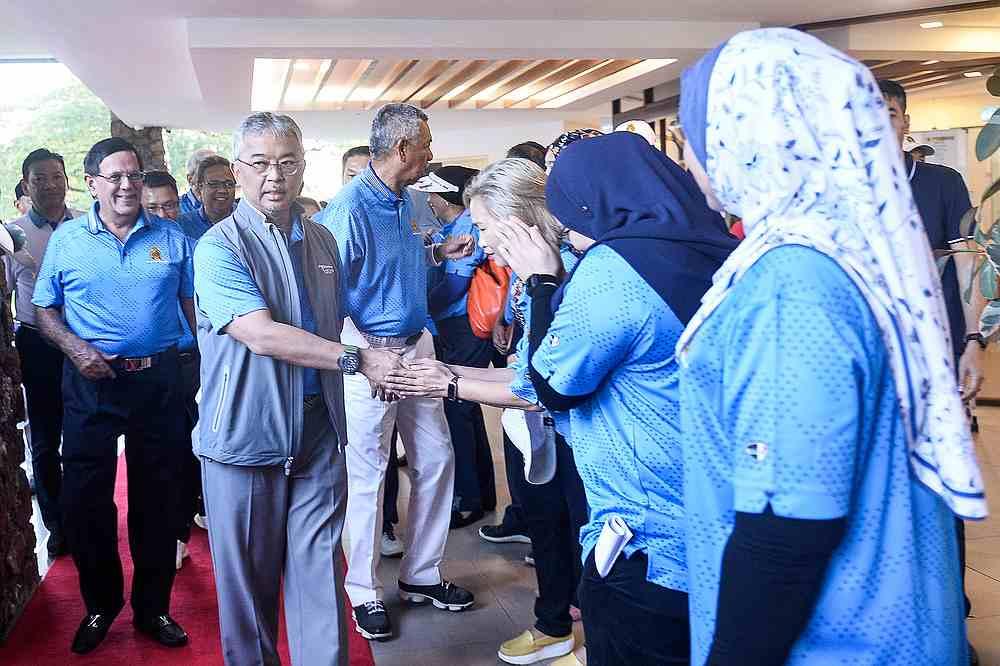 Yang di-Pertuan Agong Al-Sultan Abdullah Ri'ayatuddin Al-Mustafa Billah Shah arrive for the MGA Charity Golf 2020.