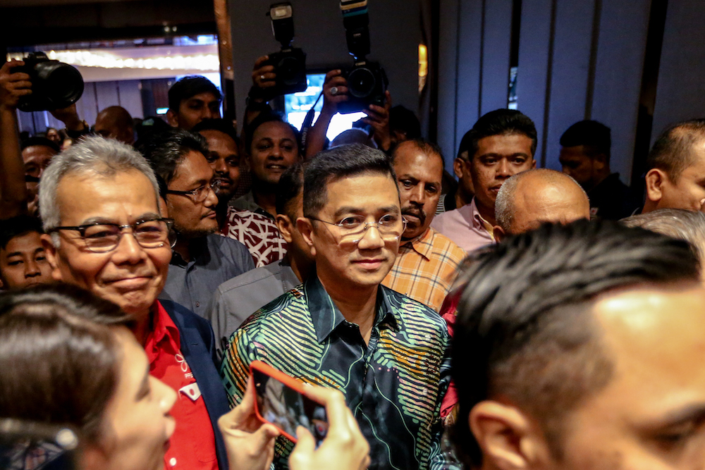 Azmin Ali is pictured at Sheraton Hotel on Sunday, 23 February.