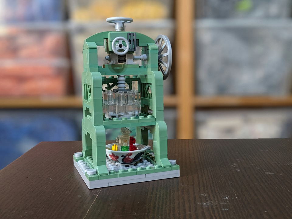 Miniature ais kacang machine.