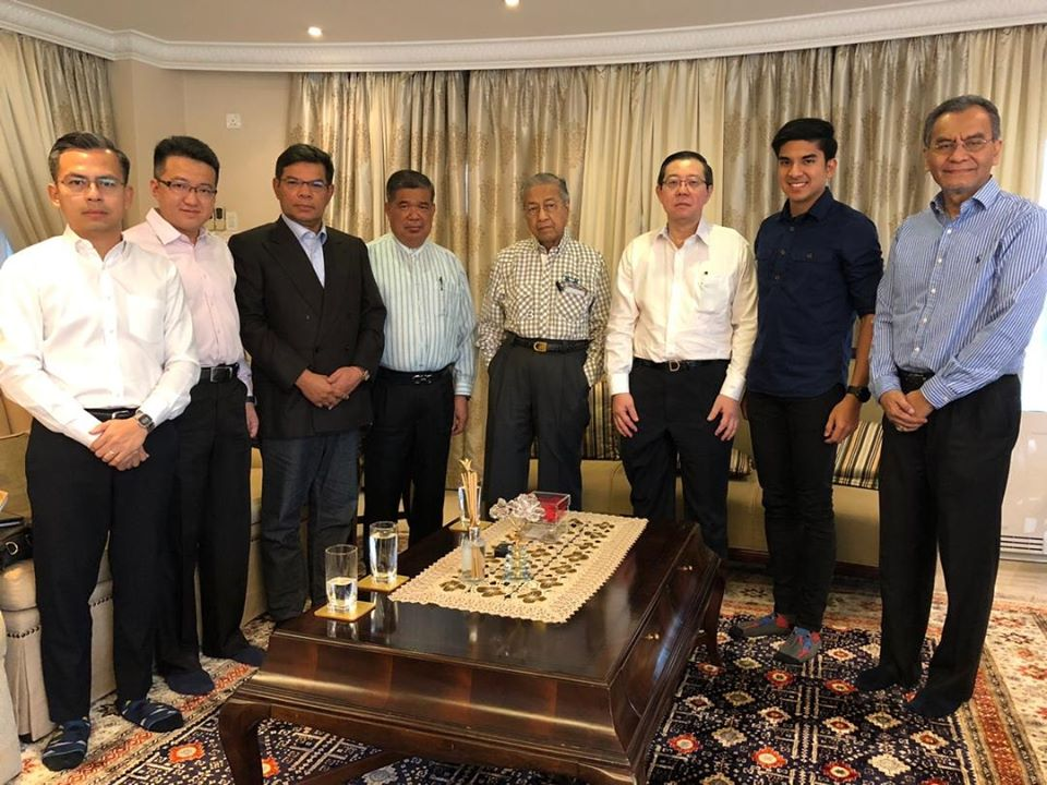 In this picture posted by DAP's Liew Chin Tong today, Pakatan Harapan leaders with Dr Mahathir.