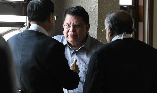 Tengu Adnan during his appearance at the KL Court Complex.
