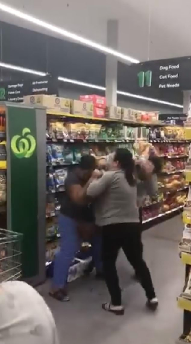 Three women in Sydney, Australia were caught on video yelling, pushing, and fighting each other over a trolley full of toilet paper on 7 March.