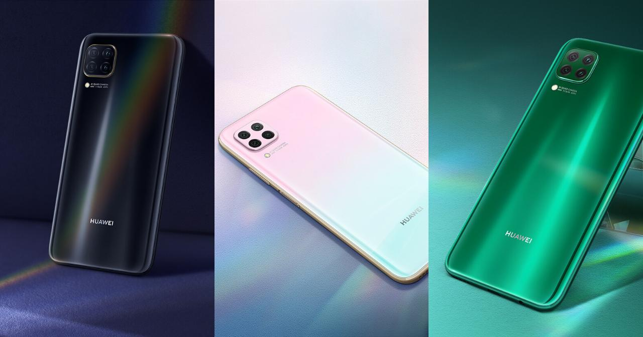 The HUAWEI nova 7i comes in Black, Sukara Pink, and Crush Green.