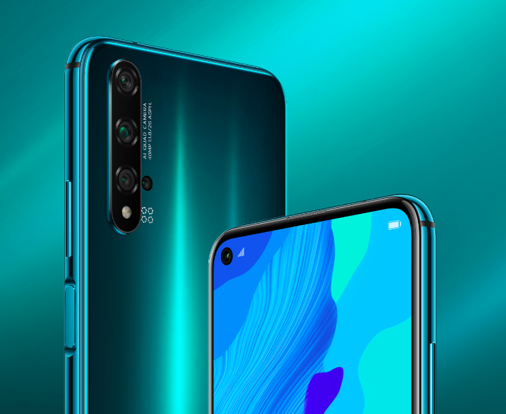 HUAWEI nova 5T in Crush Green.