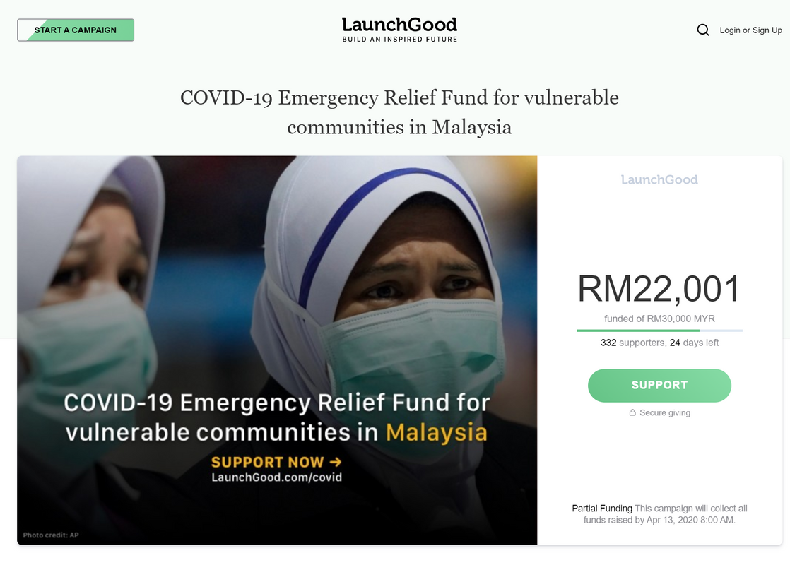 Image from MERCY Malaysia/LaunchGood