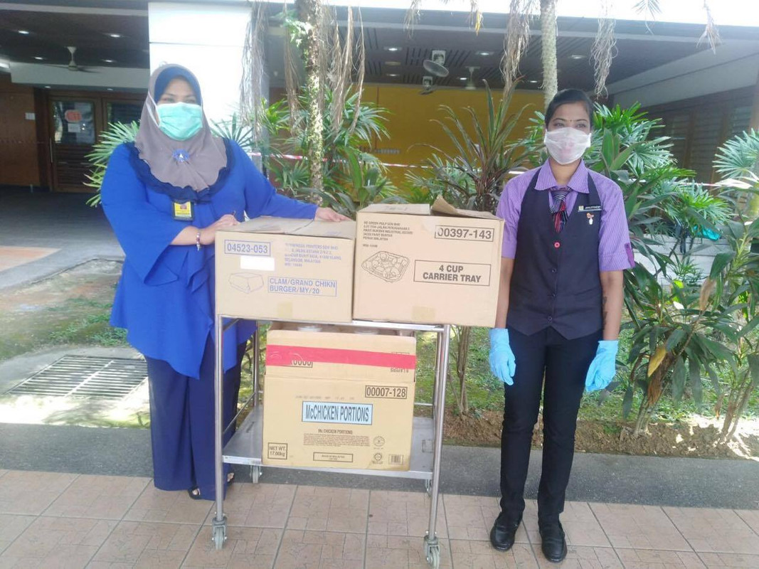 McDonald's Malaysia will be sponsoring food to healthcare workers in about 50 hospitals nationwide during the Movement Control Order (MCO) period.